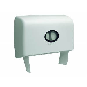 AQUARIUS* Toilettissue Dispenser Mini Jumbo Duo 6947 Wit - Kimberly Clark