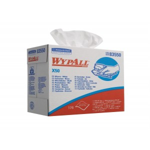 WYPALL* X50 Poetsdoeken 8355 Wit (Pop-Up doos) - kimberly Clark