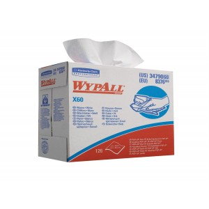WYPALL* X60 Poetsdoeken 8376 Wit (Pop-Up doos) - kimberly Clark