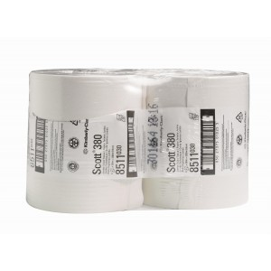 SCOTT* Performance Toilettissue Maxi Jumbo 380M 8511 Wit - Kimberly Clark