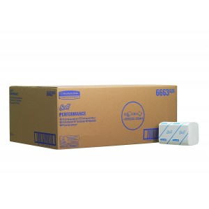 SCOTT* Performance Handdoeken Intergevouwen Medium 6663 Wit - Kimberly Clark