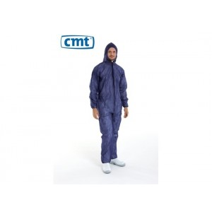 CMT pp non woven coverall regular weight blauw