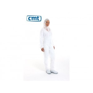 CMT pp non woven coverall regular weight wit (klittenband)