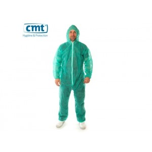 CMT pp non woven coverall regular weight groen