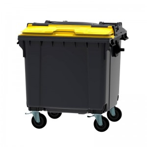 Rolcontainer 1100 liter (split deksel)