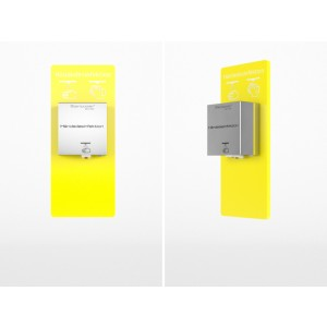 Steripower® Perspex Mini 500 wandpaneel 80608 43480297 GEEL