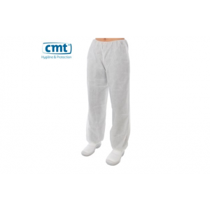 CMT pp non woven wegwerp broek wit, XXL high weight